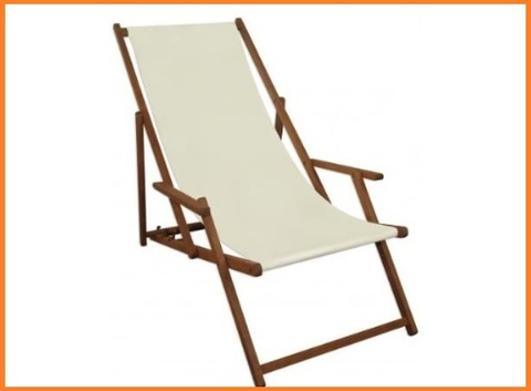 Sedie da spiaggia in legno bianco