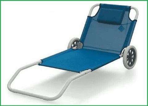 Spiaggina con ruote facile trasportabile