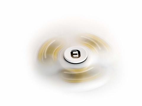 Fidget spinner metal circolare