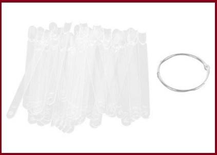 Box tips trasparenti  pre tagliate confezione da n 50 pezzi