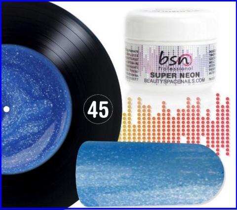 Uv gel color blue neon 2622
