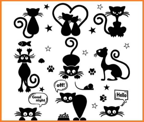 Stickers da muro gatti