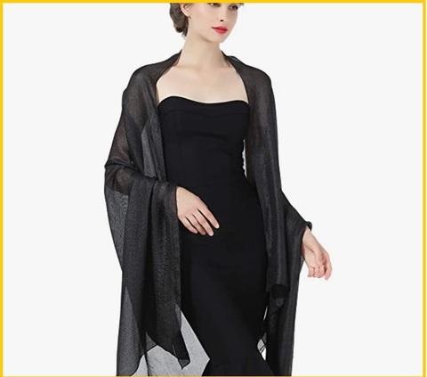 Stola elegante nera