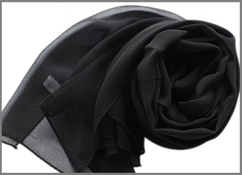 Stola nera elegante tinta nera