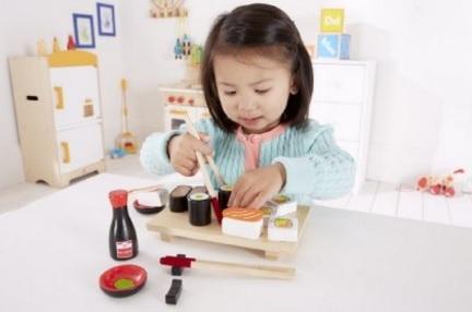 Sushi gioco con vere bacchette