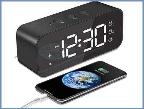 Sveglia Digitale A Batteria