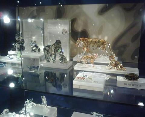Animali swarovski perfette riproduzioni in cristallo