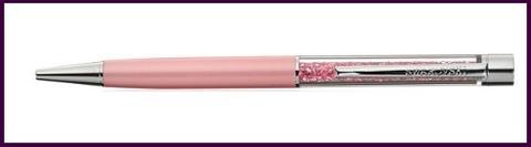 Oggetti In Swarovski Penna A Sfera Rosa