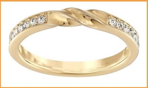 Anelli swarovski con brillantini e in oro