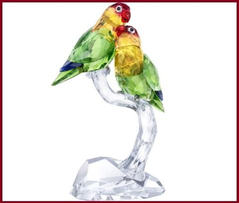 Swarovski uccelli esotici pappagalli