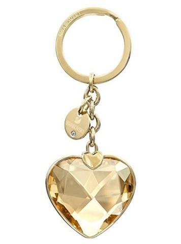 Portachiavi in oro con cuore swarovski bomboniera