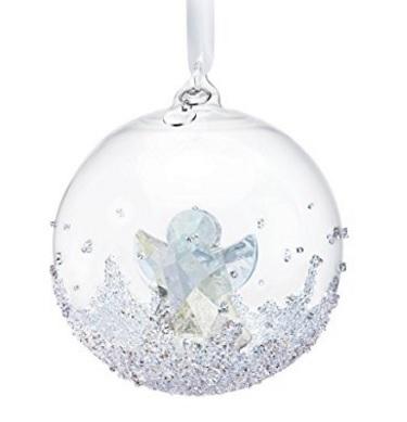 Swarovski Ornamento Palla Di Neve Con Angelo