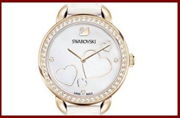 Swarovski orologio per lei con cinturino in pelle bianca