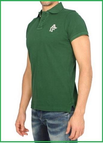 T shirt polo verde da uomo abercrombie fitch