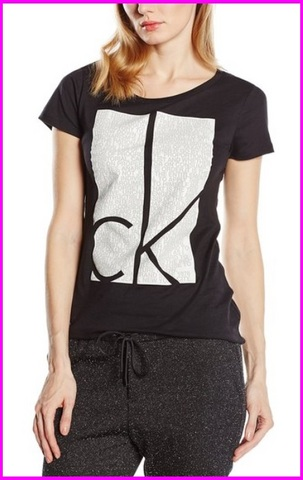 T shirt da donna calvin klein con scritte