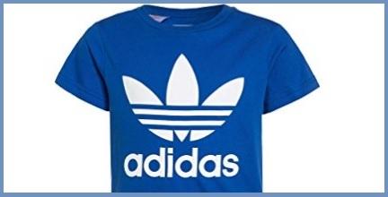 T shirt adidas blu donna