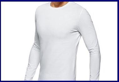 T-shirt Manica Lunga Uomo Cotone