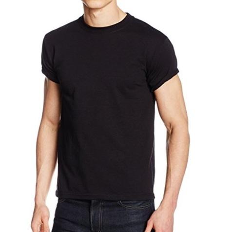 T shirt nere uomo in cotone