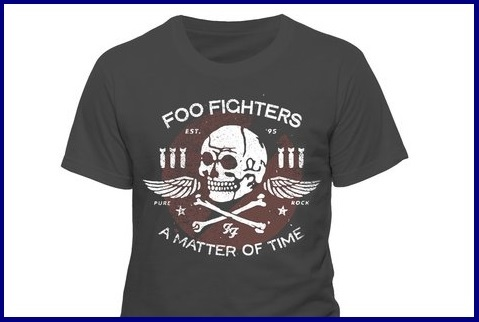T shirt foo fighters uomo