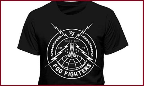 T Shirt Foo Fighters Black Strike