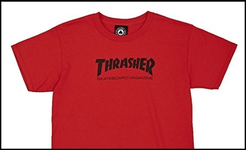 T-shirt thrasher rosso red
