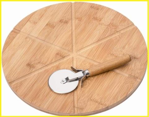 Tagliere legno pizza girevole