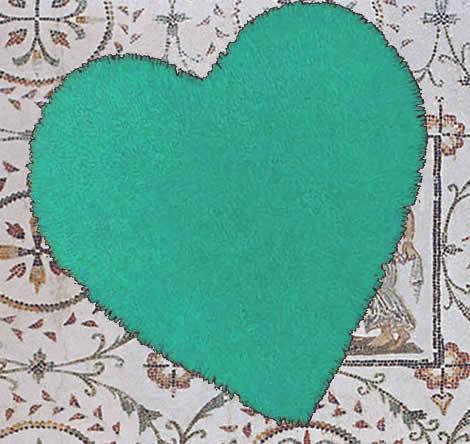 Tappeto cuore una forma moderna