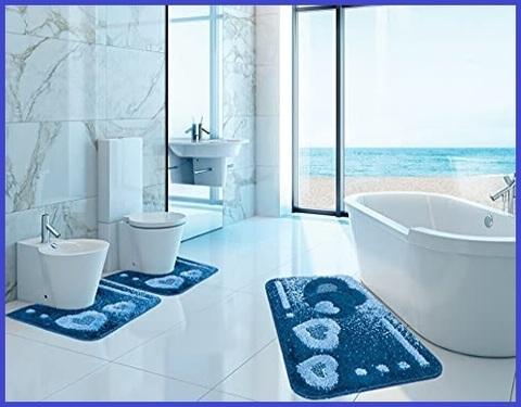 Tappeti bagno moderni 3 pezzi grandi sconti tappeti orientali e moderni - Tappeti moderni bagno ...