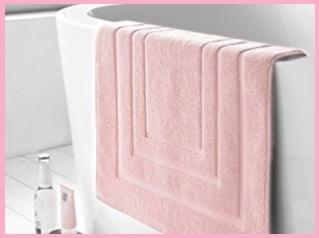 Tappeti bagno rosa