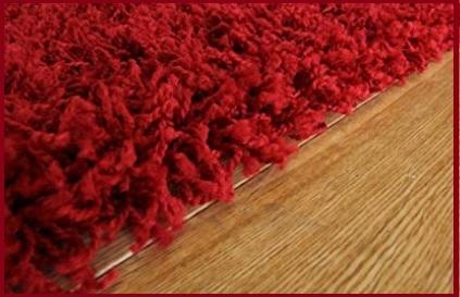 Tappeto Pelo Lungo Rosso