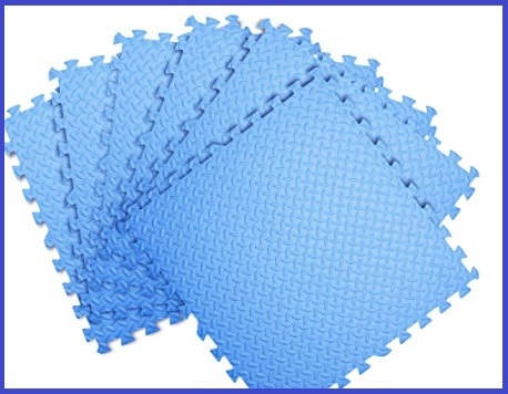 Tappetino fitness 60x60 blu