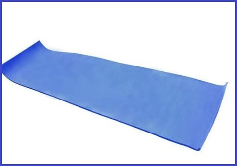 Tappetino blu fitness training