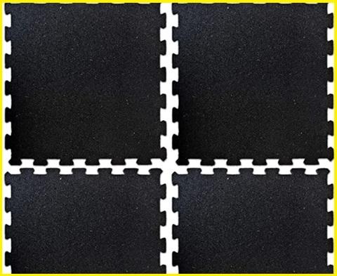 Tappeto Puzzle Fitness Nero