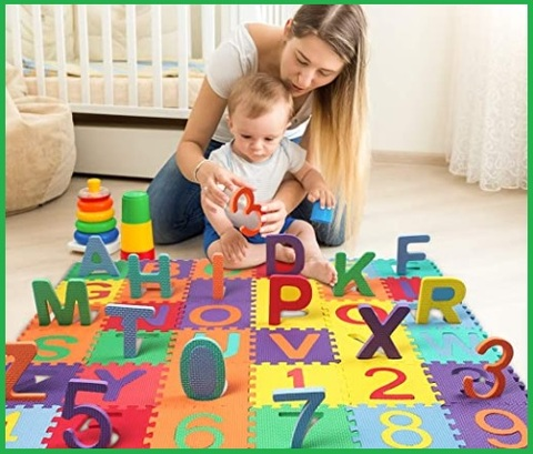Tappeto lettere puzzle neonati
