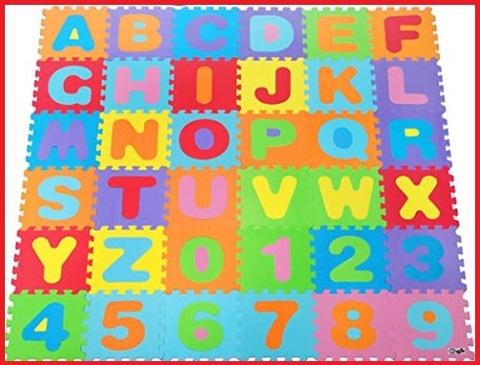 Tappeto con lettere neonato