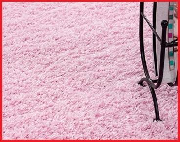 Tappeto pelo lungo rosa