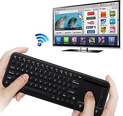 Tastiera Ergonomica Con Mouse Touchpad Per Smart Tv E Mini P