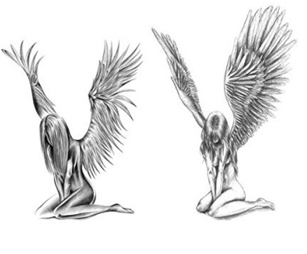 Tatuaggio temporaneo angel