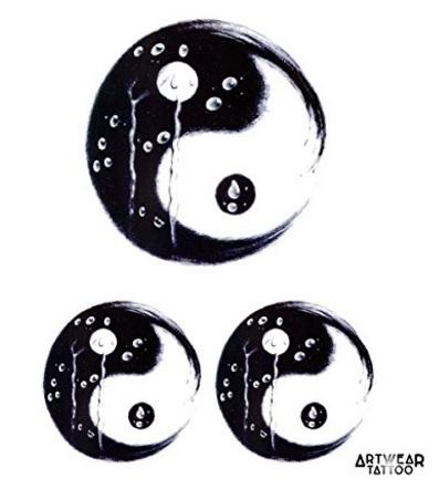 Tattoo Realistico Temporaneo Yin Yang