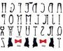 Tattoo lettere a forma di gatto