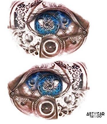 Tatuaggio occhio robot realistico
