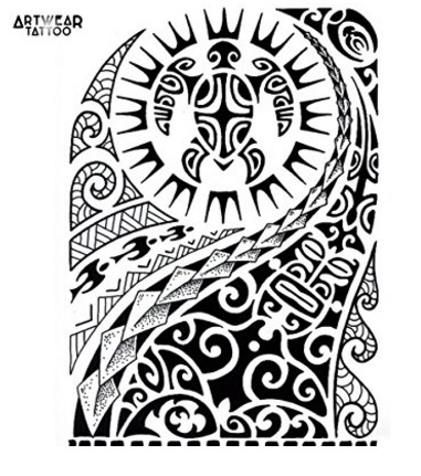 Tatuaggio maori realista temporaneo