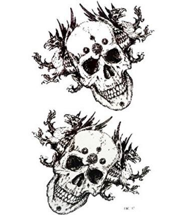 Teschio tattoo dark style