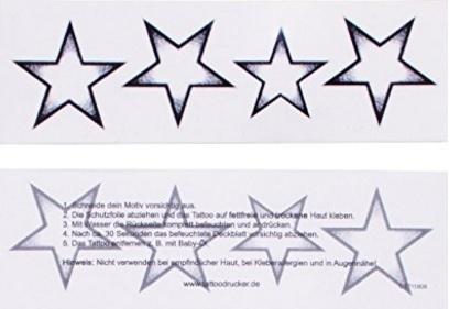 Tatuaggi stelle con ombreggiatura