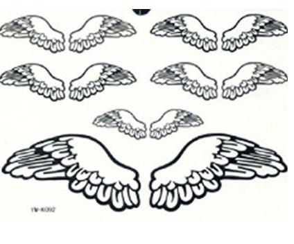 Ali di angelo impermeabili tattoo