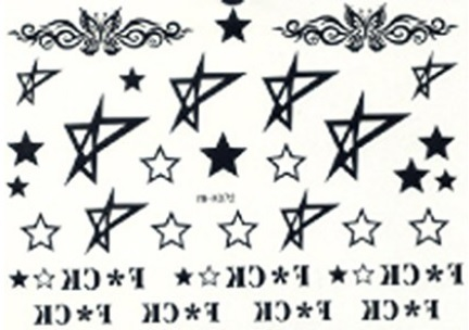 Bracciali tattoo temporanei oro e argento