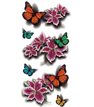 Farfalla colorata temporanea tattoo