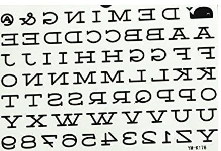 Lettere uniche e impermeabili per comporre il tattoo