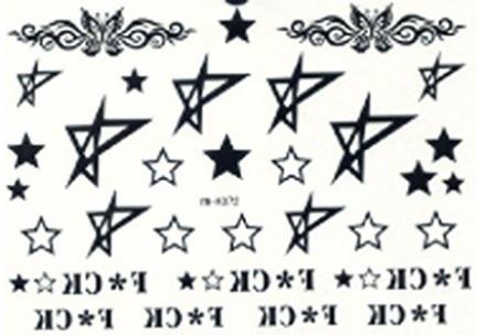 Tattoo impermeabile e temporaneo con scritte