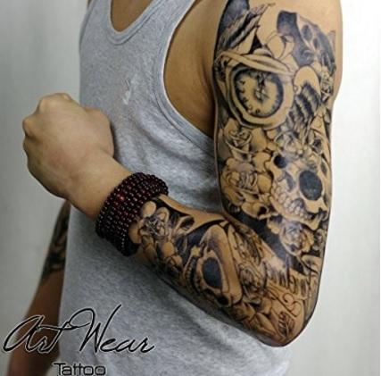 Tattoo braccio lungo e temporaneo